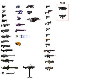 Halo Weapon Sprite Sheet 1 by Drakojan14