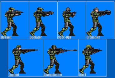 Halo Marines Sprite Preview by Drakojan14