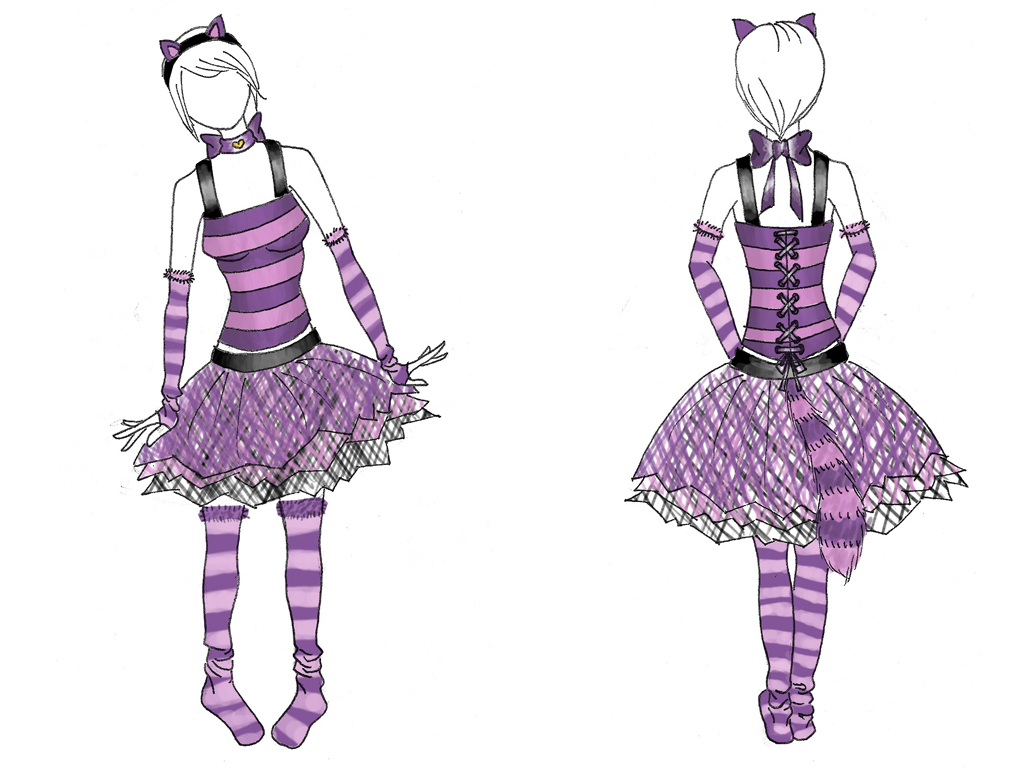 The Cheshire Cat Costume Girl