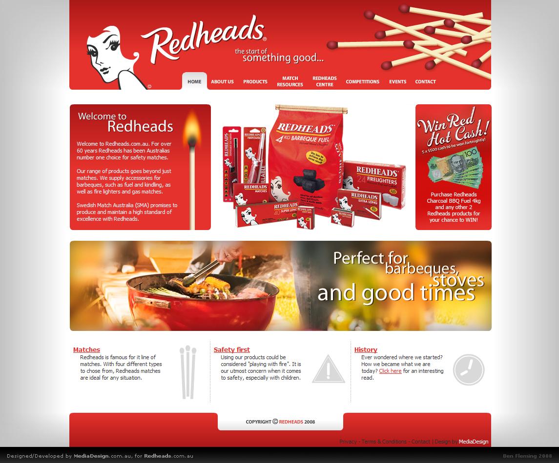 Redheads.com.au by MediaDesign