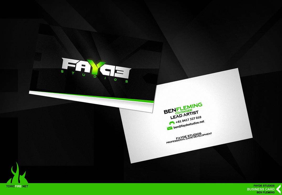 Fayde Studios :: Business Card by MediaDesign