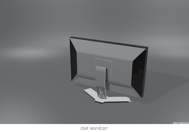 Dell monitor 3D -WIP by MediaDesign