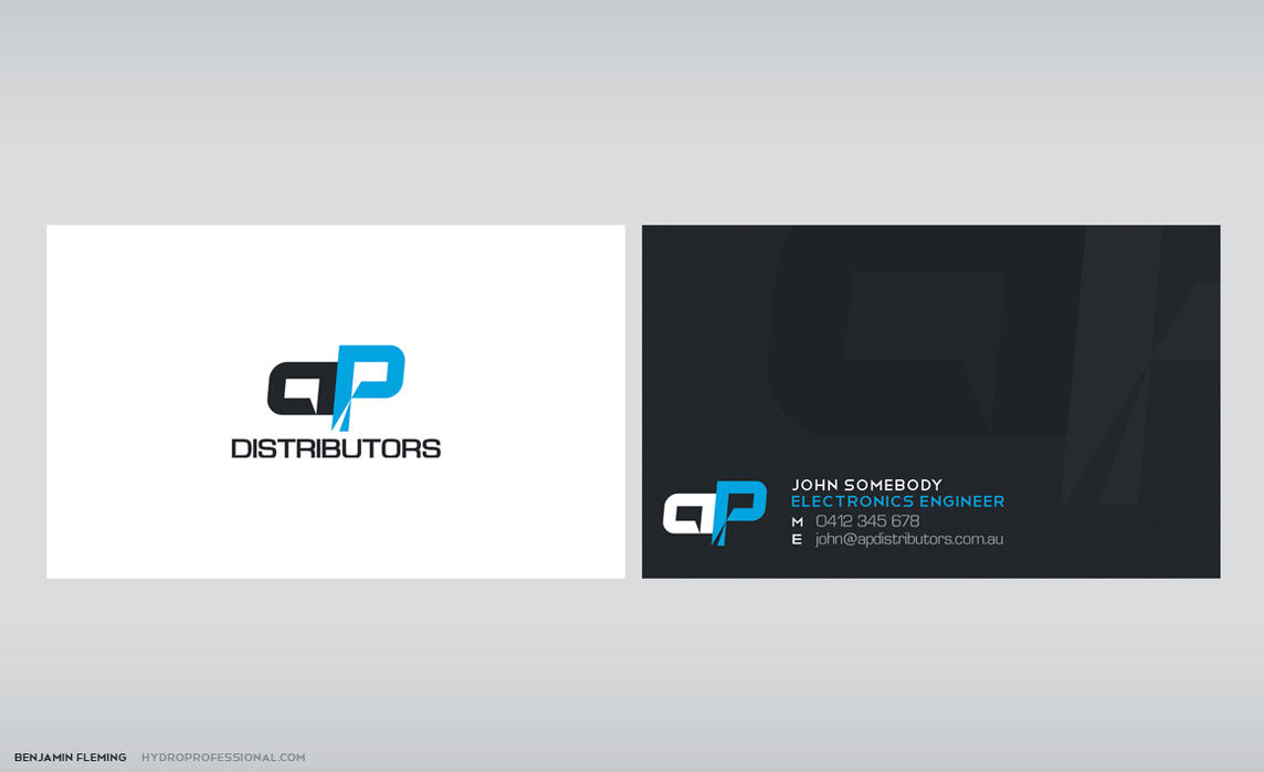 AP Distributors Business Card by MediaDesign