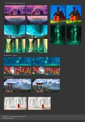 Colour studies - environment design by Martenitza