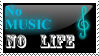 No Music No Life Stamp by DJaimon