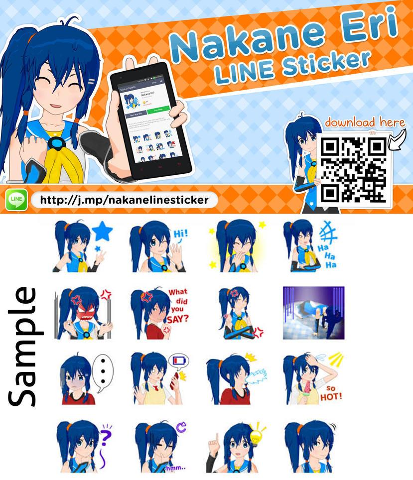 Nakane Eri Line Sticker by VERTEX768MHz