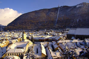 first snow in brasov by cornelvoicu1989