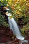 Waterfall at Lake Plastira