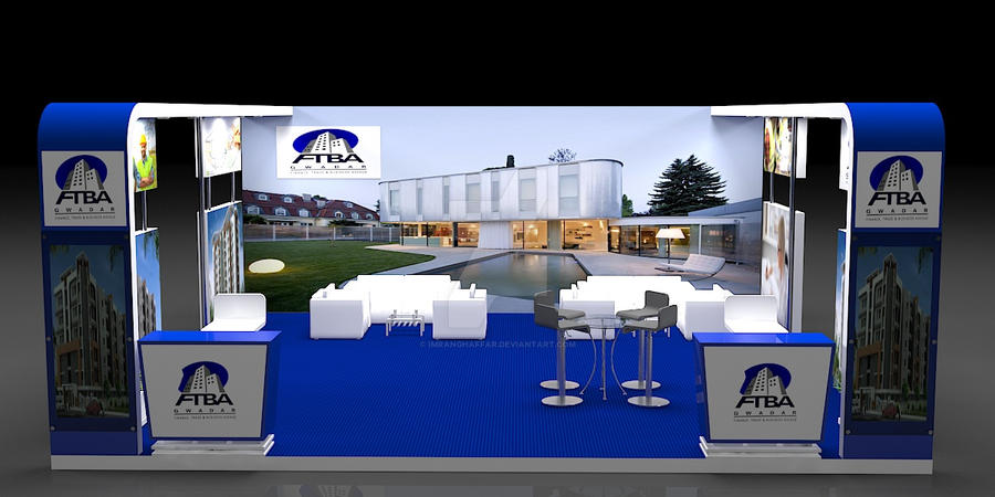Real Estate Exhibition Stall : Stall design expo exhibition view by imranghaffar on deviantart