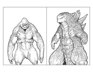 Scan Tales 009: Kong Vs Godzilla by Dezarath