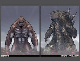 Kong v Godzilla 2019 by Dezarath