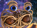 Challenge #10: Flying Spaghetti Monster by hgagne