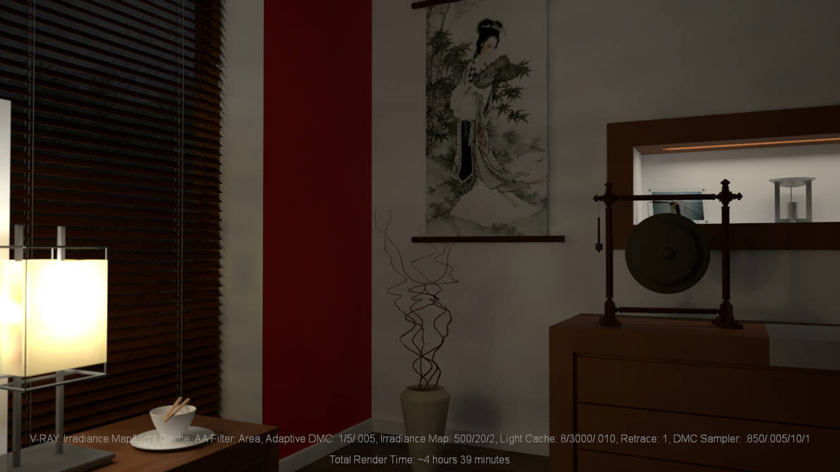 Bedroom Close-Up: Irradiance Map/Light Cache by hgagne