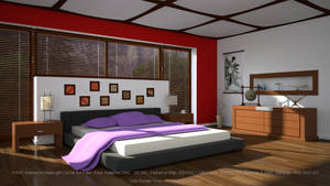 Bedroom Day: Irradiance Map/Light Cache by hgagne