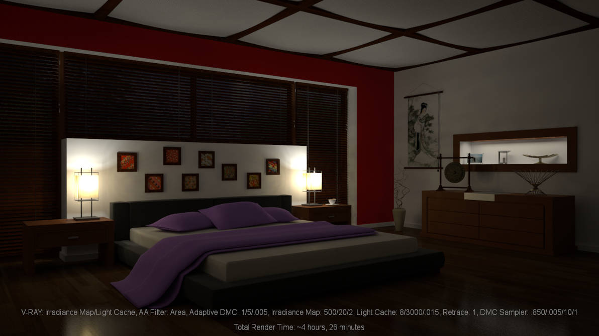 Bedroom Night: Irradiance Map/Light Cache by hgagne