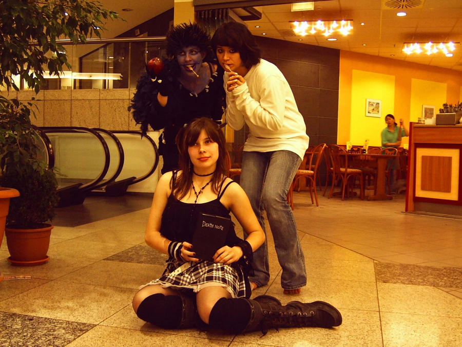 :Death Note: L - Ryuk - Misa by HeartlessTira