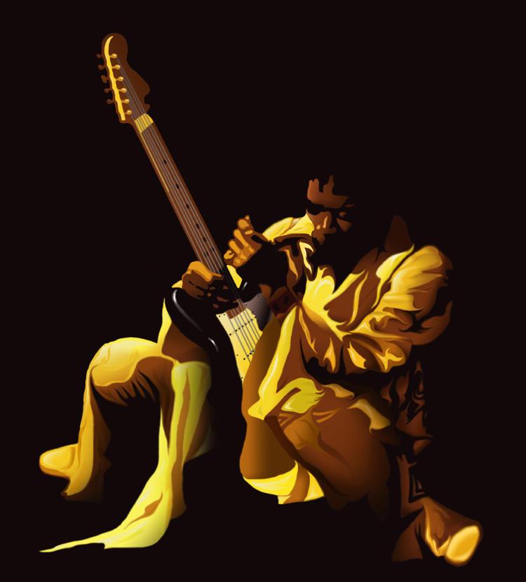 Jimi Hendrix by thisisanton