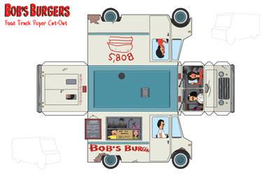 Bob's Burgers Food Truck Paper Toy
