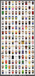 150 Cartoon Friends by thisisanton