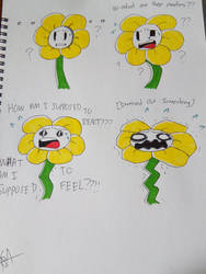 [Undertale] Flowey the Flower by Spaced-Out-Xandy