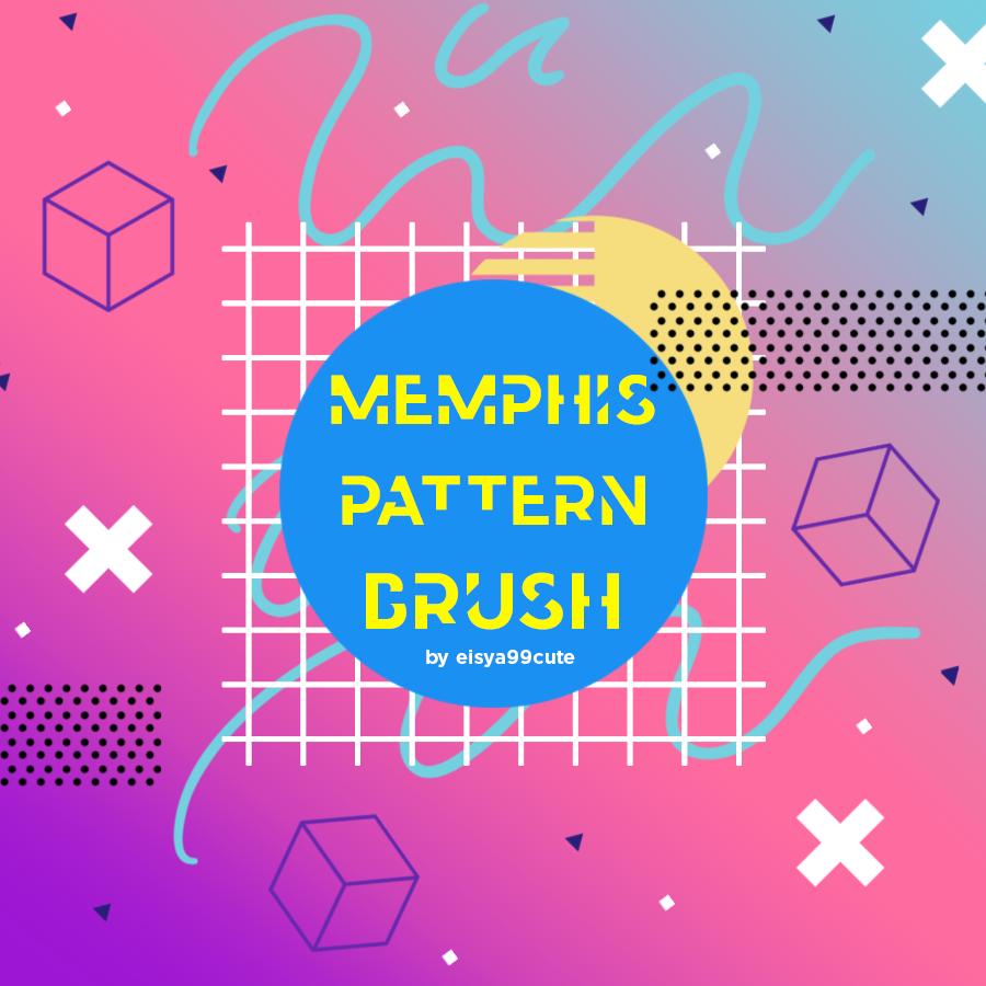 Memphis Pattern Brush #2 by eisya99cute on DeviantArt