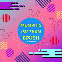 Memphis Pattern Brush #3
