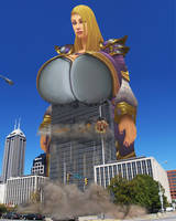Huge Jaina is collapsing building with her boobs by Laaaar