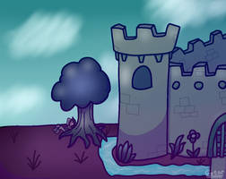 Outside of the castle (digital drawing experiment)