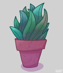 Potted Plant (digital drawing)
