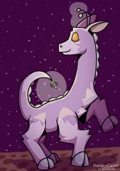 Space Giraffe (digital art)