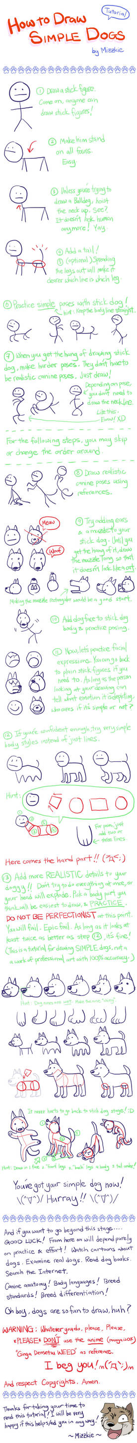 Tut: How to Draw Simple Dogs
