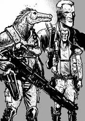 Space Criminal Sketches