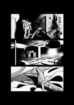 Sci-fi horror comic page 4