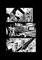 Sci-fi horror comic page 2