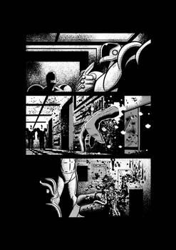 Sci-fi horror comic page 1