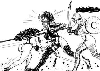 Gladiatrix combat sketch
