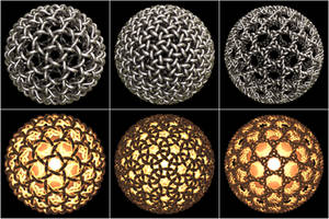 Geodesic Dome Knots by bugman123