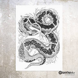 Leaf Adder - Animal and Bird Ink Collection