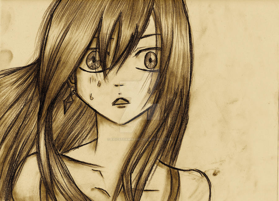 Erza Sketch by EpicStormMage