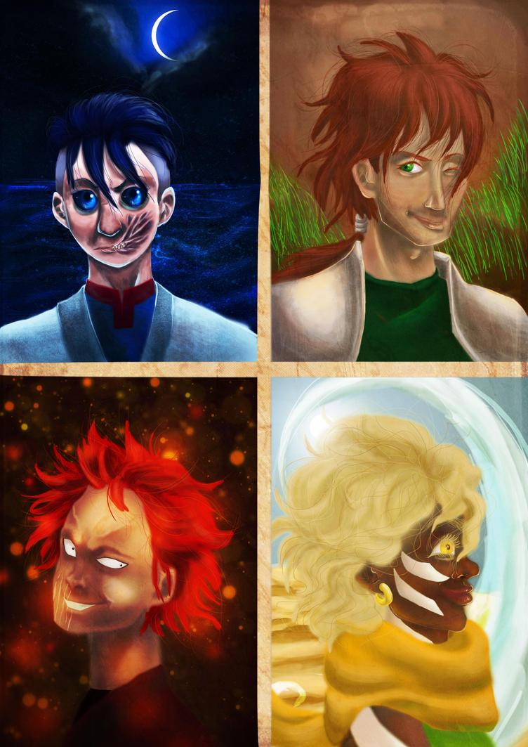 The Four Legends original size by ILOVEJIMHAWKINS