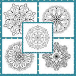 Mandala Lineart: Print and Paint