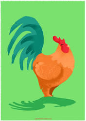 The rooster by labetenwar