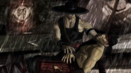 Kung Lao -  Sorrow and anger by MarceloHatsuneBlue32