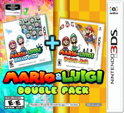 Fan Made Mario And Luigi Double Pack Box Art By Ericgl1996 On