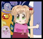 Sakura is afraid of ghosts