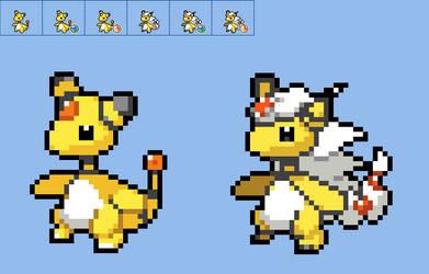 Ampharos icon sprite (Pokemon Switch icon style)
