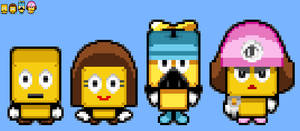 Brickle, Britta and the Brocks in MLBIS style