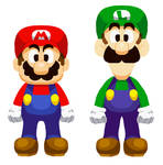 Mario and Luigi (Heart Shard style sprites)