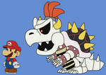 Dry Bowser (Paper Mario style)