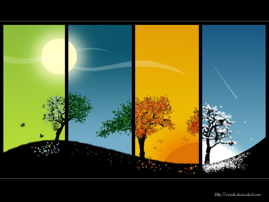 4 seasons by vxside ... - 4 Seasons By Vxside On DeviantArt